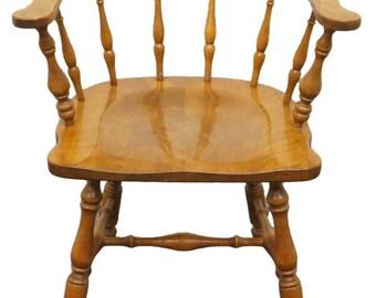 ETHAN ALLEN Heirloom Nutmeg Maple Pub Chair 10 6031
