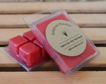 Home for the Holidays  Wax Melts - Soy Blended Wax - Wax Cubes - Wax Tarts - Hand Poured - Gift Idea