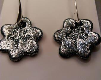 Silver colour earrings