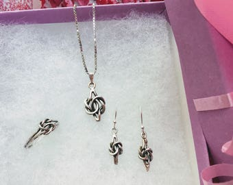 Sterling Silver Knot Jewelry Set
