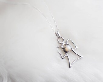 White Colour Therapy Angel Pendant Necklace