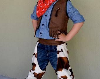 Cowboy Costume Set for Boys Custom Made Size 2,3,4,5,6,7,8Y