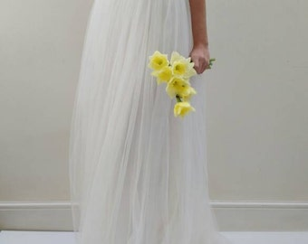 Wedding Dress Separates - Silk Tulle Wedding Gown Skirt