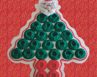 Santa Ornament AND Advent Countdown Calendar Digital PDF Crochet Pattern 23rd Milk Cap Cutie Pattern