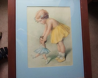 Bessie Pearce Gutmann Print The First Step Perfect for a little girl's room