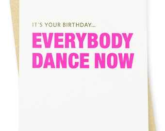 Birthday Card - Dance Letterpress Card