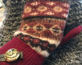 Podunk Mittens Recycled Wool Sweater Mittens