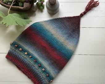 Knit Women's  Bohemian wool winter bandana kerchief gypsy scarf headband