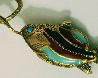 Colorful MMA Fish Necklace