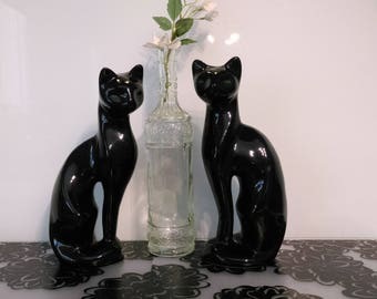 Stunning Large Retro Vintage Kitsch Cats ~ Retro Cats ~ Cat Figurines ~ Sleek ~ Tall ~ Beautiful Statue