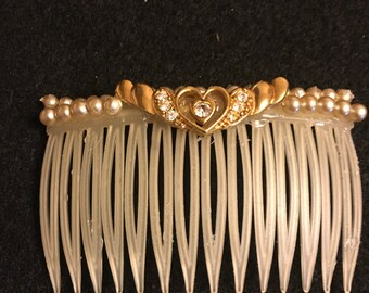 Vintage Pearls Special Occasion Hair Comb
