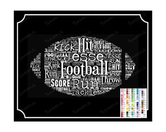 Football. Gifts, Personalized Football Gifts, Football Birthday, Football Team Gifts, Football Player 8 x 10 Print