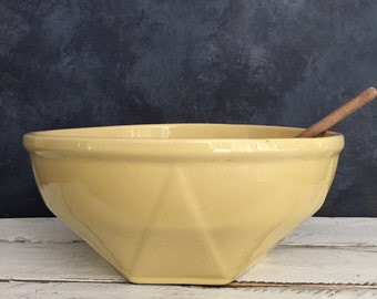 retro yellow mixing bowl, food photography prop, food styling prop
