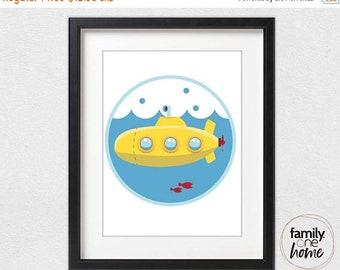 ON SALE Yellow Submarine (Porthole Fisheye)