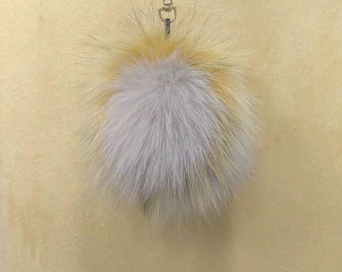 Fox Fur Pom Pom, Bag Pom Pom,Fur keychain F597
