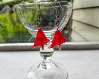 Red Calla Lily Earrings
