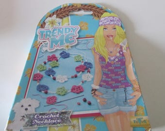 Trendy Kit-for making crochet floral neck