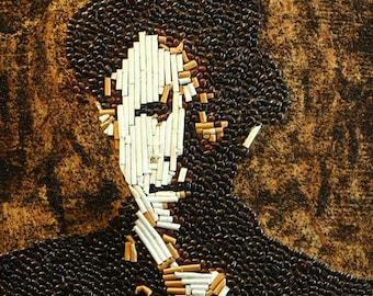 Tom Waits - Coffee and Cigarettes Print