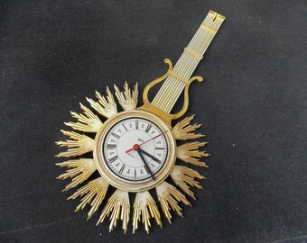 Plastic cool clock, Schatz plastic Clock wall clock, modern wall clock, wall clock, yellow clock, retro clock, wall decor, unique