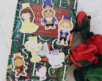 The Beauty and the Beast — magnetic bookmarks