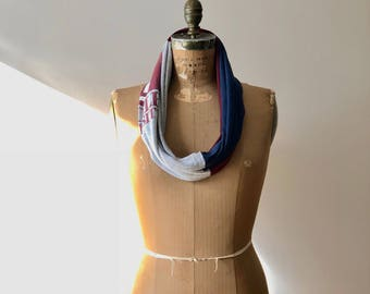 Temple University T Shirt Scarf Womens Tee Scarves Recycled Upcycled Clothing Handmade Cotton Soft Gift Idea ohzie