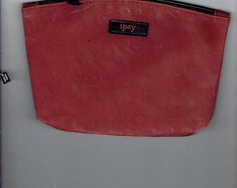 burgundy makeup bag embossed 1990