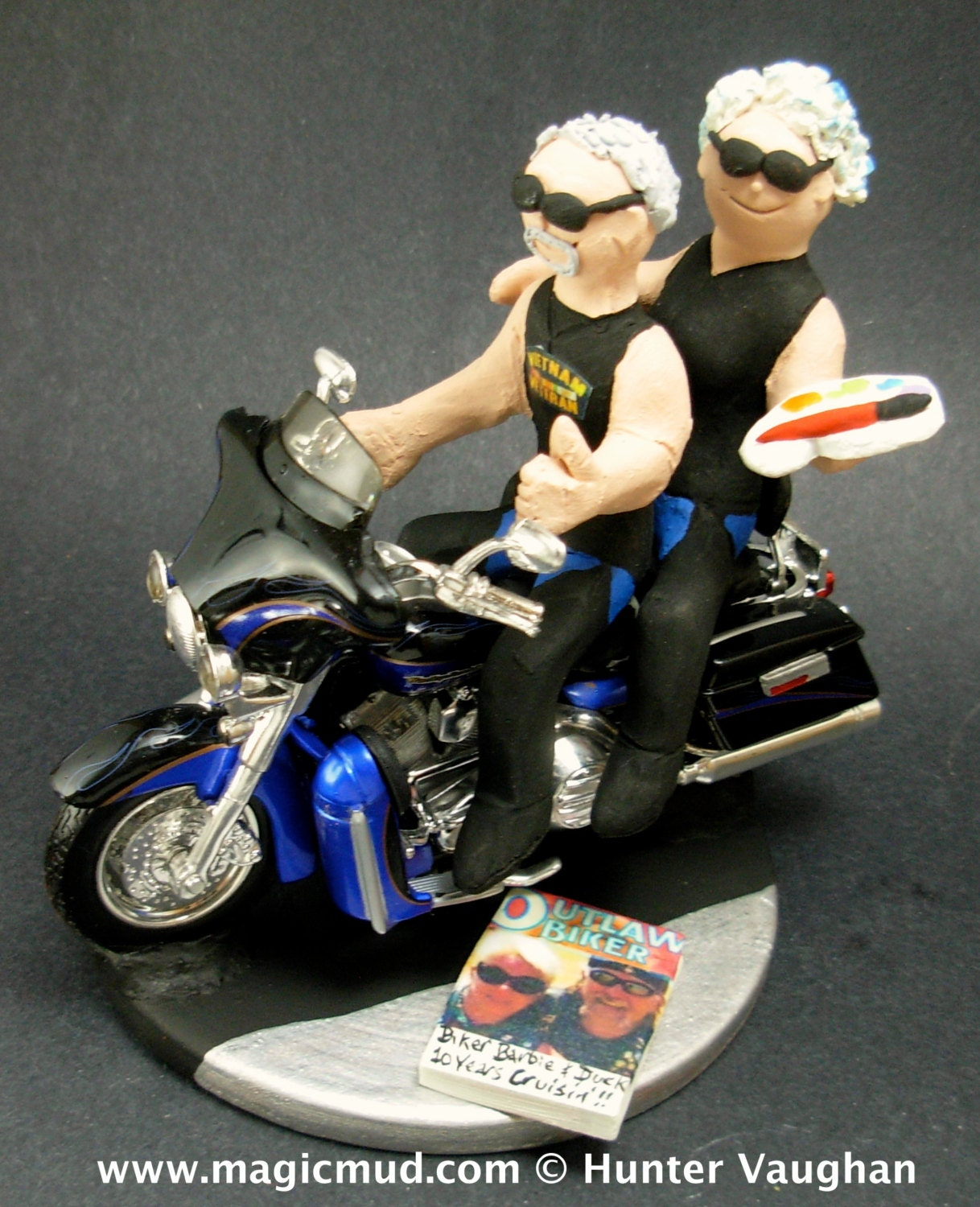 motorcycle cake topper groom and on harley davidson wedding cake topper 6052