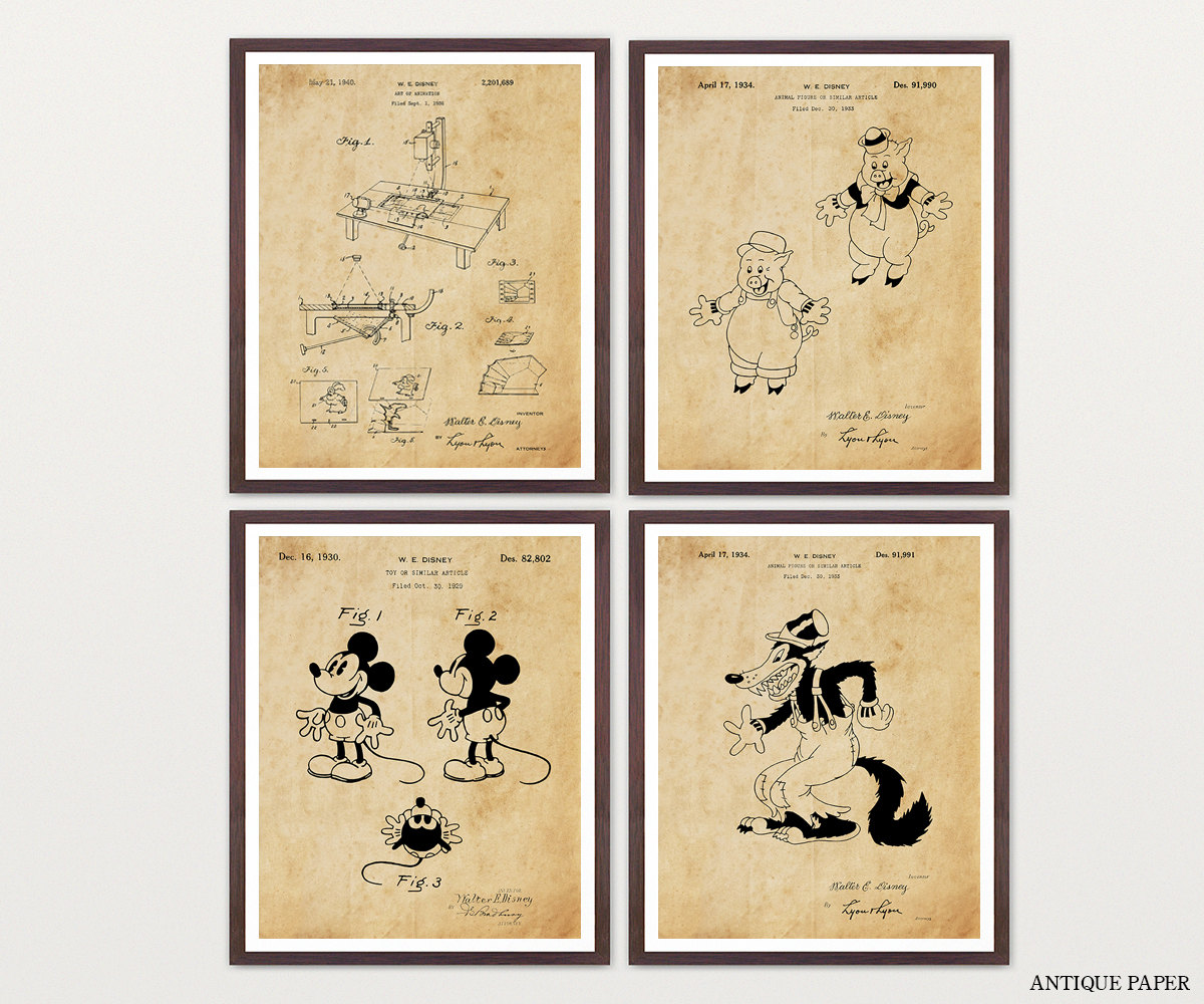 Walt Disney Patent Collection - Mickey Mouse Patent - Mickey Mouse ...