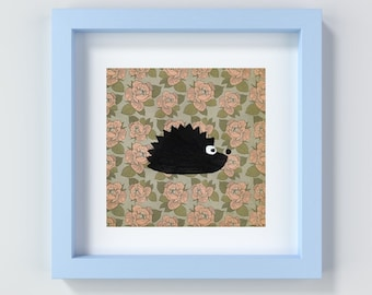 Hedgehog Nursery Print Woodland Animal, Printable Woodland Nursery Art, Hedgehog Print, Hedgehog Wall Art, Cute Nursery Print, Kids Room Art
