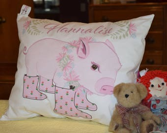 Pillows with names - Pillows with quotes - Pocket Pillow - Personalized gift for women - Personalized pillow cover - Pig pillow cover