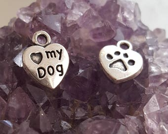 Love My Dog Charm (Addition to Pendants) Thoughtfullkeepsakes Shop