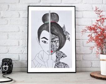 Mulan Hand Drawn Original