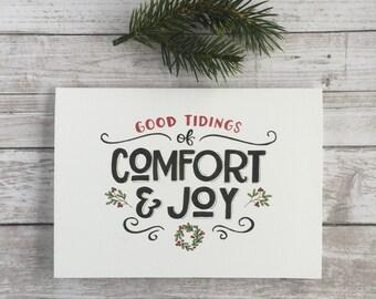 Good Tidings of Comfort & Joy, Christmas, Handmade Card
