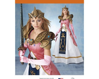 Sewing Pattern Warrior Princess Zelda Costumes Fantasy Costumes Misses Simplicity Pattern 8113 Halloween Costume Cosplay  sc 1 st  Etsy & Zelda costume | Etsy