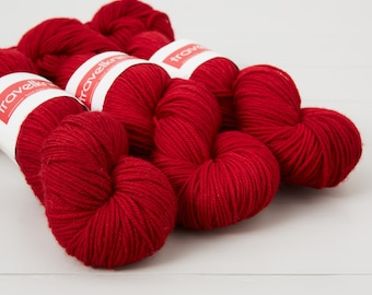 Extra Fine Merino DK hand dyed yarn - Double Happiness