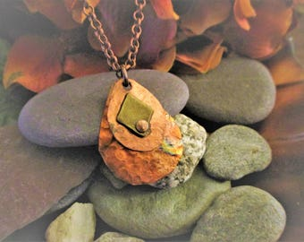 Copper Necklace - Hammered and Fired