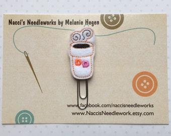 Coffee Cup Decorative Planner Clip- DD Coffee Bookmark- Decorative Paper Clip