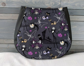 Nightmare Before Christmas, Jack Skellington CHARLA Over the Shoulder Purse Jack Skellington and Zero Dark Gray