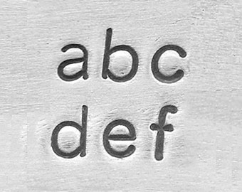 ImpressArt Basic Lowercase Sans Serif Font, Alphabet Hand Stamp, Metal Stamping Set, Choose Size.Try it in a kit! Use with our Blanks!