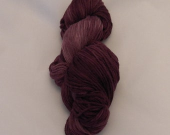 Merlot- Merino Sport Weight Yarn- Hand Dyed- OOAK- 0031