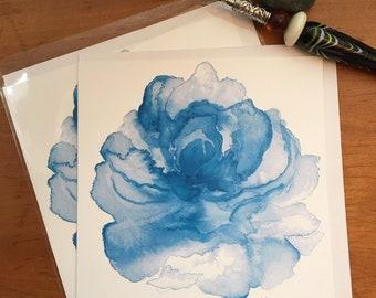 Watercolor Flower Notecard