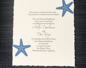 Starfish Invitations-Beach Wedding
