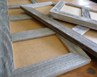 Multi Opening  5 X 7 Barnwood Panel Collage Picture Photo Frames in choice of natural or painted finishes