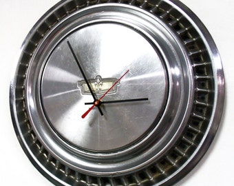 1974 Chevy Caprice Wall Clock - Chevrolet Caprice Hubcap Clock - Father's Day Gift