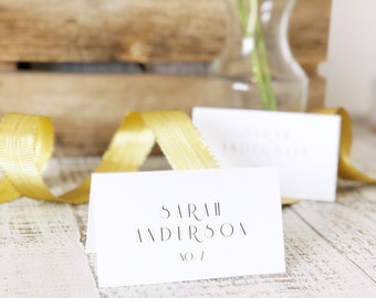 Art Deco Place Card Template, Printable Escort Cards, Gatsby, Word or Pages, Mac or PC, Instant DOWNLOAD