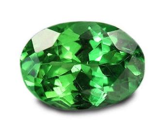 Natural Tsavorite Green Garnet AAA Oval Faceted (4x3mm - 6x4mm) Loose Gemstones