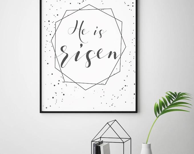 He is Risen- Modern Eastern Christian Decor Print