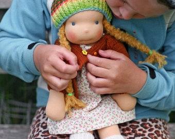 Waldorf Doll Uljana - handmade cloth doll - waldorf doll for girls - original handmade doll - cloth doll - 42 cm 16 in long - gift for girls