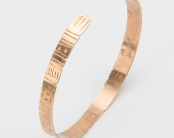 Primitive Dreamer - Brass Textured Cuff - Adjustable