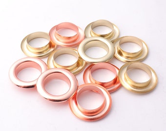 22*14*6mm(OD * ID * Height) Light gold Rose gold Eyelet Grommets with washer Brass Grommets Eyelets Metal eyelets